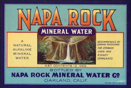 #ZLS227 - Napa Rock Mineral Water Co. Soda Bottle Label