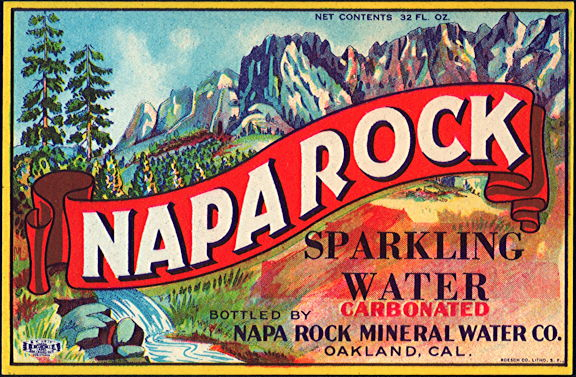 #ZLS223 - Rare Napa Rock Sparkling Mineral Water Soda Bottle Label