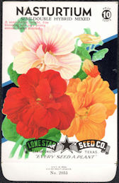 #CE020 - Semi-Double Hybrid Nasturtium Lone Star 10¢ Seed Pack - As Low As 50¢ each