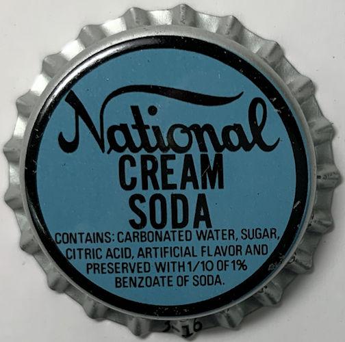 #BC014 - Group of 10 National Cream Soda Bottle Caps