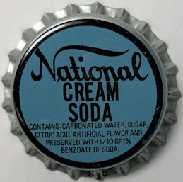 #BC014 - Group of 10 National Cream Soda Bottle Caps