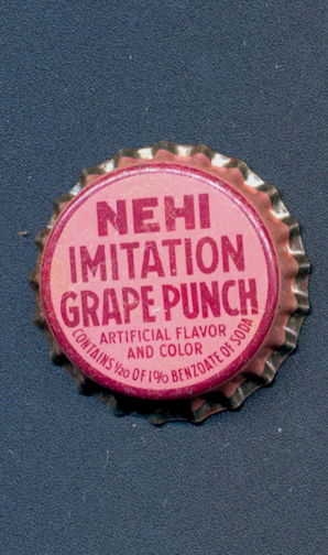 #BC159 - Early Cork Lined Nehi Imitation Grape Punch Soda Bottle Cap - As low as 35¢ each