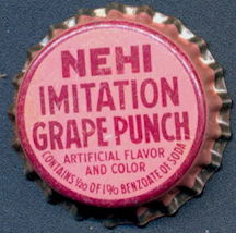 #BC159 - Group of 10 Early Cork Lined Nehi Imitation Grape Punch Soda Bottle Caps