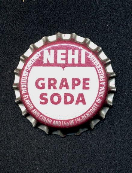 #BC188 - Group of 10 Nehi Grape Soda Cork Lined Bottle Caps