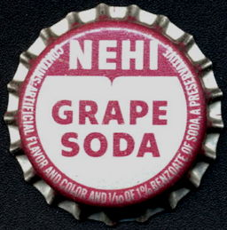 #BC188 - Group of 10 Nehi Grape Soda Cork Lined Bottle Caps