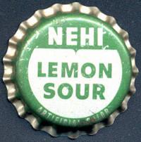 #BC140 - Group of 10 Cork Lined Nehi Lemon Sour Soda Bottle Caps