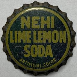 #BC238 - Group of 5 Rare Cork Lined Nehi Lime Lemon Soda Caps