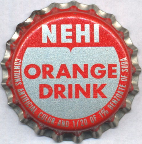#BC174 - Group of 10 Nehi Orange Drink Cork Lined Soda Bottle Caps