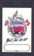 ##MUSICBP0038 - Scarce 1984-85 Neil Young Laminated Backstage Pass from the International Harvester World Tour