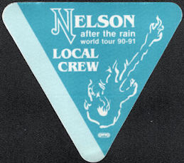 ##MUSICBP0186 - Nelson Cloth OTTO Local Crew Backstage Pass from the 1990/91 After the Rain World Tour