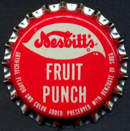 #BC190 - Group of 10 Nesbitt's Fruit Punch Cork Lined Soda Bottle Caps