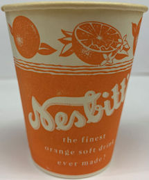 #SOZ070  - Group of 12 Nesbitt Sample Size Cups with Orange Slices Pictured