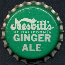 #BC191 - Group of 10 Nesbitt's Ginger Ale Cork Lined Soda Bottle Caps