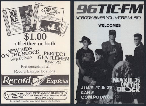 ##MUSICBP0295 - Early New Kids on the Block OTTO Cloth Radio Pass from 1990 Magic Summer Tour