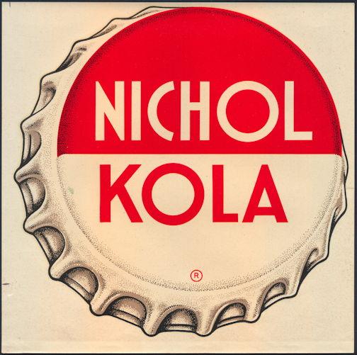 #SIGN184 - Large Nichol Kola Soda Window Decal Sign