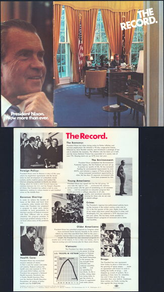 #PL332 - 1972 President Nixon Now More Than Ever Campaign Brochure