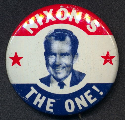 #PL339 - Pictorial Nixon's the One 1968 Presidential Campaign Button