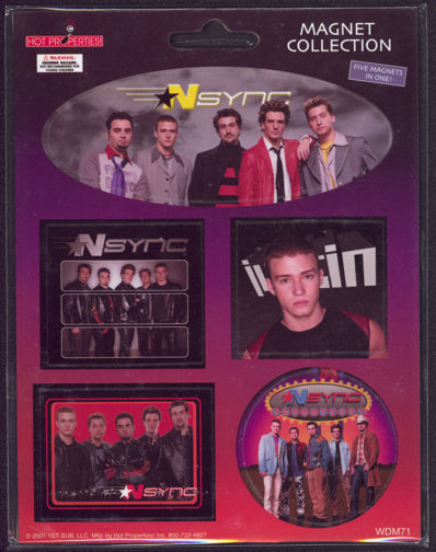 ##MUSICBG0058 - Carded Set of 5 NSync Magnets