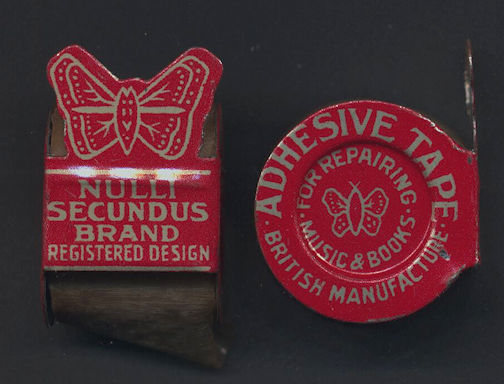 #CS344 - Full Nulli Secundis Brand Adhesive Tape Tin with Butterflies - As low as $1.50 each
