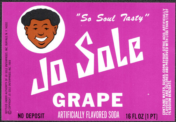 #ZLS251 - Jo Sole Grape Soda Bottle Label - O.J. Simpson