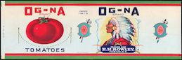 #ZLCA098 - Og-na Tomato Can Label