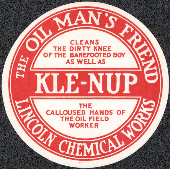 """#ZBOT215 - Group of 6 Kle-nup """"The Oil Man's Friend"""" Jar Label"""