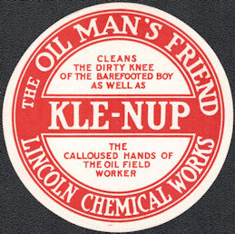 "#ZBOT215 - Group of 6 Kle-nup ""The Oil Man's Friend"" Jar Label"
