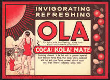 #ZLS163 - Rare Ola Coca Kola (Coca Cola competitor) Bottle Label (with Coca Leaf - Cocaine in it)