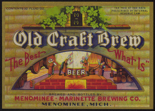 #ZLBE091 - Large Beautiful Old Craft Brew Beer Bottle Label - IRTP