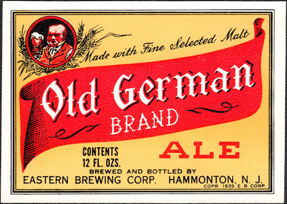 #ZLBE123 - Old German Brand Ale Bottle Label