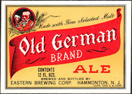 #ZLBE123 - Old German Brand Ale Bottle Label