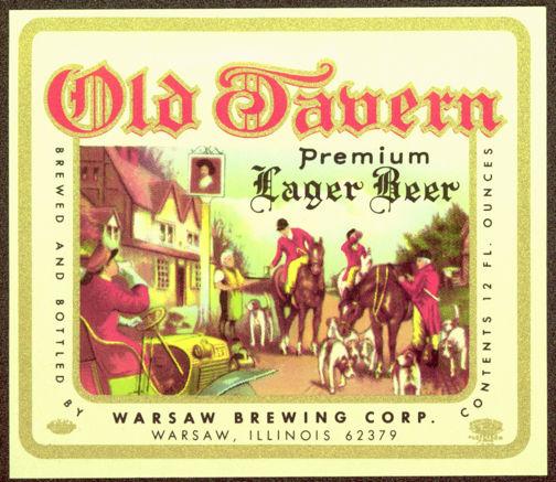 #ZLBE062 - Old Tavern Lager Beer Label