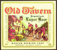 #ZLBE062 - Old Tavern Lager Beer Label