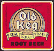 #ZLS167 - Uncommon Old Keg Root Beer Bottle Label