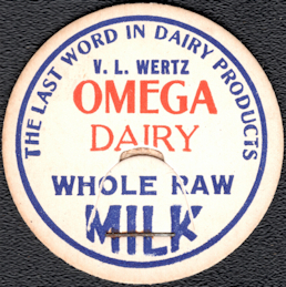 #DC208 - Omega Dairy Whole Raw Milk Bottle Cap