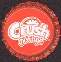 #BC095 - Group of 10 Orange Crush Plastic Lined Soda Caps