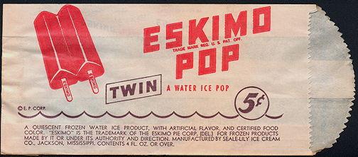 #PC103 - Eskimo Pop Popsicle Bag - Eskimo Pie