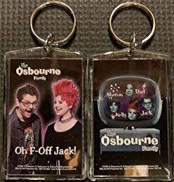 ##MUSICBG0118 - Two Different Licensed Keychains from the Osbourne Family TV Show