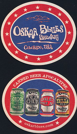 #SP071 - Oscar Blues Brewery Canned Beer Apocalypse Coaster - As low as 12¢ each