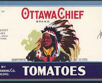 #ZLCA195 - Scarce Ottawa Chief Tomatoes Can Label