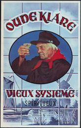#ZLW157 - Oude Klare Vieux Systeme Dutch Liquor Bottle Label