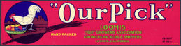 #ZLCA*004 - Our Pick Fruit Crate Label - Chicken