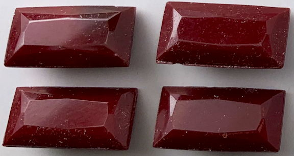 #BEADS0873 - Group of Four 16mm Czech Oxblood Glass Cabochons