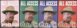 ##MUSICBP0019 - Four Different Colored Jackie Gleason All Access PHISH OTTO BackStage Passes