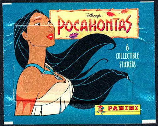#ZZA242 - Pack of 6 Disney Pocahontas Stickers