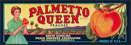 #ZLCA*060 - Palmetto Queen Peaches Crate Label