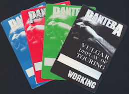 ##MUSICBP0182 - Pantera Cloth OTTO Backstage Pass from the 1992 Vulgar Display of Touring Tour - as low as $3 each