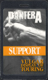 ##MUSICBP0577 - Rare Pantera Laminated OTTO Backstage Pass from the 1992 Vulgar Display of Touring Tour