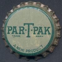 #BC134 - Early Cork Lined Nehi Par-T-Pak Soda Bottle Cap - As low as 25¢ each