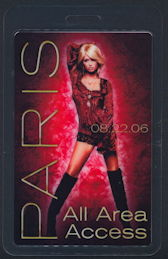 ##MUSICBP0172 - Scarce Paris Hilton OTTO Laminated Backstage Pass from the 2006 Paris Tour - As low as $3.50 each